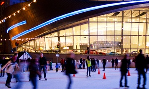 WBT Holiday on Ice: Ice-Skating and Skate Rental for One or Two at WBT Holiday on Ice (Up to 46% Off)
