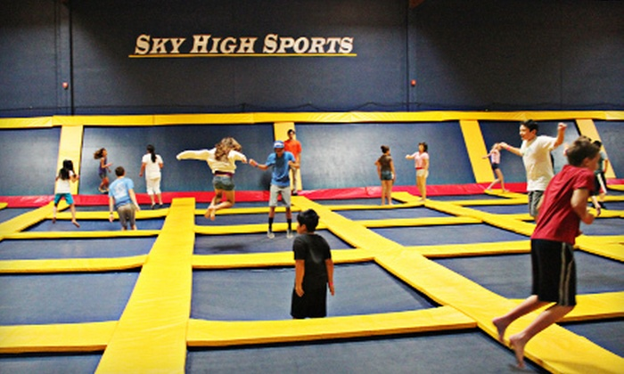Sky High Sports - Valencia: Two Hours of Jump Time Friday–Sunday or Monday–Thursday, or a Birthday Party for 10 at Sky High Sports (Up to 50% Off)