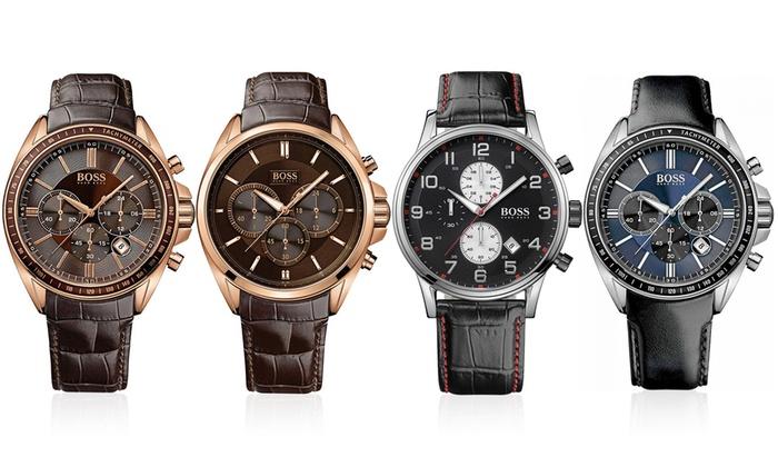 Hugo Boss Men S Chronograph Watch Groupon Goods