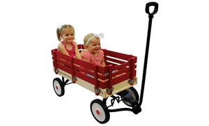 "Little Box 34"" Wooden Toy Wagon"