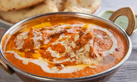 $35 for Indian Dinner for Two with One Appetizer, Two Entrees and Two Desserts at Cafe Taj (44% Off)