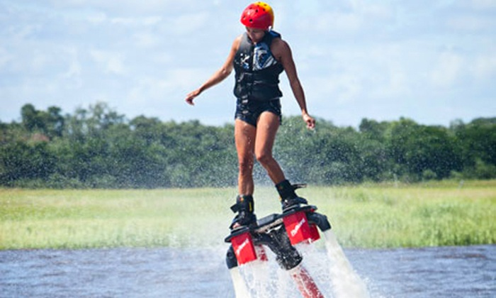 Hydrofly Watersports - Bristol Marina: Flyboarding Experience for One, Two, or Four with Photo and Video Package from Hydrofly Watersports (39% Off)