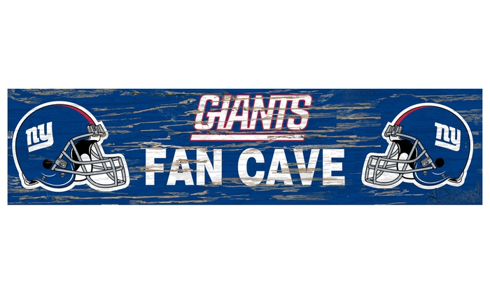 """New York Giants 24"""" Distressed Fan Cave Sign: New York Giants 24"""" Distressed Fan Cave Sign"""