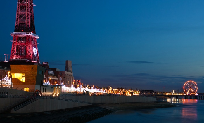 Blackpool: 1 or 2 Nights for Two with Breakfast and Lunch on Arrival at South Beach Hotel