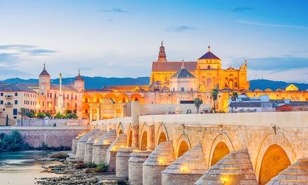 Tour por Málaga, Granada, Córdoba y Sevilla para 1 con hotel, desayuno, visitas y coche de alquiler