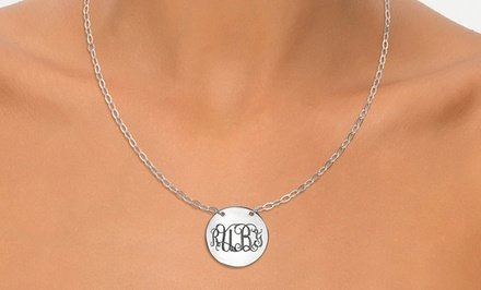 One or Two Monogrammed Pendant Necklaces from Joyali (Up to 54% Off)