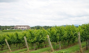 CrossKeys Vineyards: Grapes to Glass Winery Tour with Cheese Platters and Logo Glasses for Two or Four at CrossKeys Vineyards (Up to 52% Off)