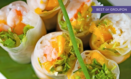 Asian Tapas and Entrees for Lunch or Takeout at Dapur (Up to 35% Off)