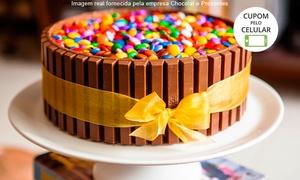Chocolat e Presentes: Chocolat e Presentes – Floresta: bolo de Kit Kat e minibombons