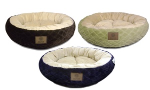 Akc Diamond Fur Xl Round Pet Bed
