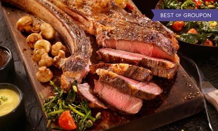 3-Gänge-Dry-Aged-Beef-Tomahawk-Menü mit Beilage nach Wahl für 2 Personen im Beef Bull Club (bis zu 47% sparen*)