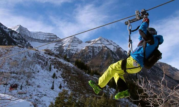 Sundance Resort - Sundance Utah: $35 for a 3,871-Foot Mountainside Winter Zip Line Tour at Sundance Resort ($50 Value)