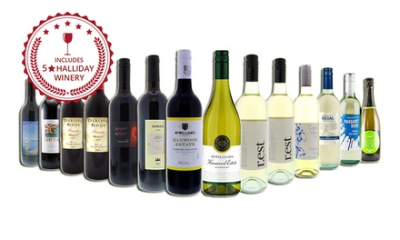 $69 for a 14Pack of Red and White Mixed Wines Including MultiAward and FiveStar Winery Don't Pay $219