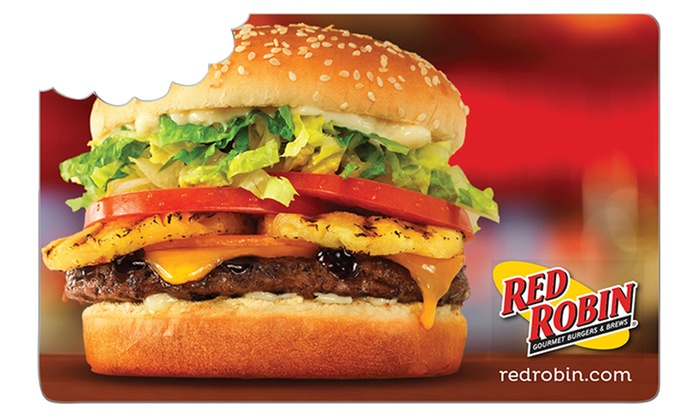 Red Robin: $25 Voucher to Red Robin + 10% Back in Groupon Bucks