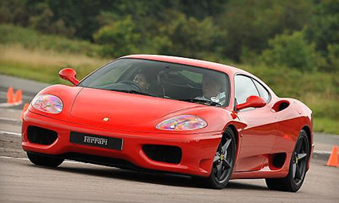 The Motorsport Lab - New Hampshire Motorspeedway: Ferrari Experience from The Motorsport Lab at New Hampshire Motor Speedway (Up to 83% Off). Three Options Available.
