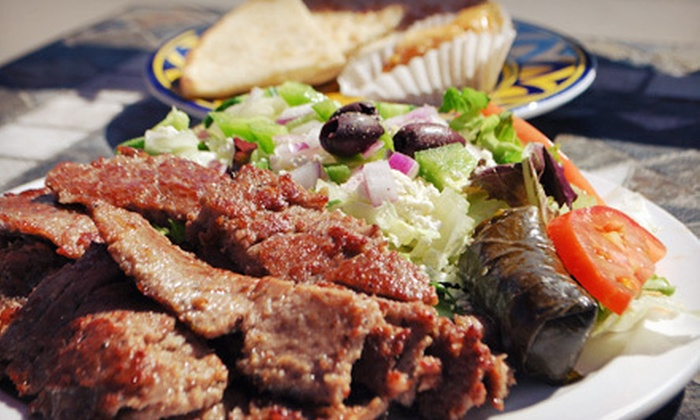 Melita's Greek Cafe & Market - Capitol Hill: Combo Platter for Two or Greek Food at Melita's Greek Café & Market (Up to Half Off). Two Options Available.