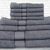 8-Piece Egyptian-Cotton Towel Set with Pandora Design