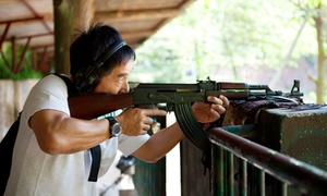 AJ's Running Guns: Outdoor Gun Range Shooting Experience with 25 Rounds from R250 for One at AJ's Running Guns