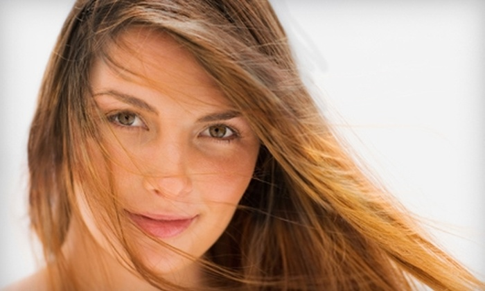Shear Excitement Salon - Pompano Beach: Deep-Conditioning Treatment and Style with Full Color or Partial Highlights at Shear Excitement Salon (Up to 52% Off)