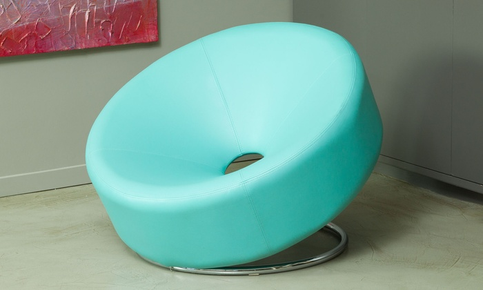 Delicieux Bonded Leather Donut Chair | Groupon Goods