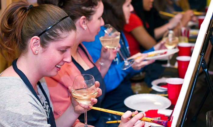 Pub and Paint - Multiple Locations: Two-Hour Painting Experience for One, Two, or Four from Pub and Paint (50% Off)