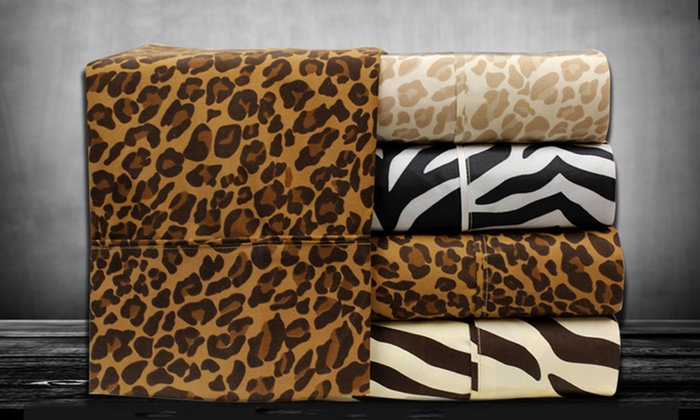 Hotel Collection Animal-Print Sheets: Hotel Collection Animal-Print Microfiber Sheets (Up to 68% Off). Multiple Options Available. Free Shipping and Returns.