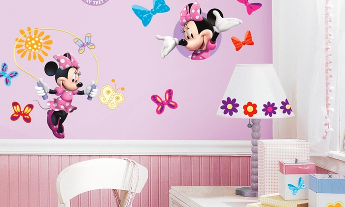 Disneys Minnie Mouse Wall Decals Groupon - Minnie mouse wall decals