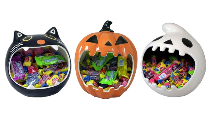 Halloween Ceramic Candy Bowl | Groupon