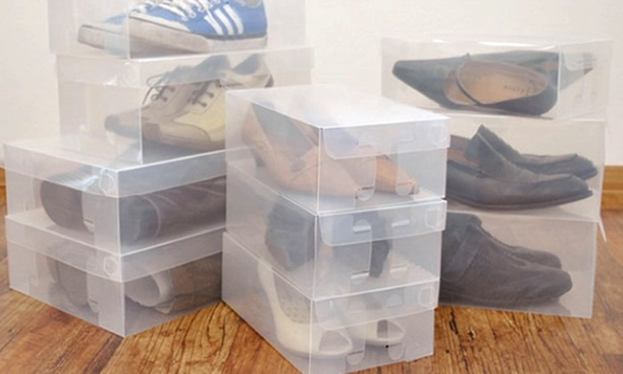 10 Clear Shoe Storage Boxes