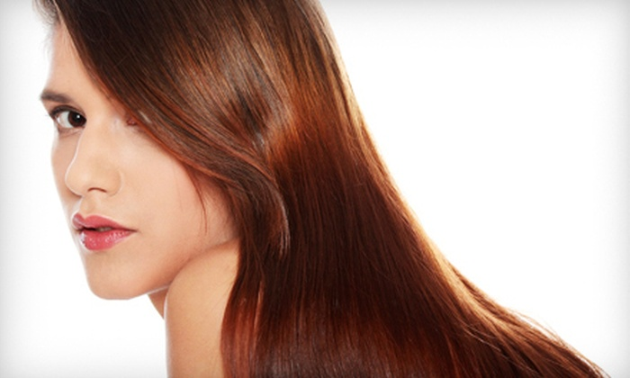 Ambiance Salon & Day Spa - West Central: One, Two, or Three Keratin Treatments or Brazilian Blowouts, Plus Wine, at Ambiance Salon & Day Spa (Up to 78% Off)