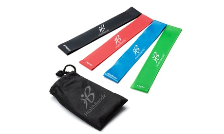 Resistance Exercise Band Set (4-Piece) with Travel Case