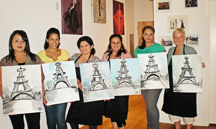 BYOB Painting Class for One or Two at VIP Paints (Up to 46% Off)