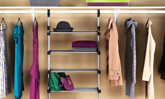 Beautiful ... Whitmor Sophisticate 6 Shelf Closet System : Whitmor Sophisticate  6 Shelf Closet System ...