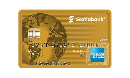 Get $50 Groupon Bucks Upon Approval of a Scotiabank Gold American Express Card