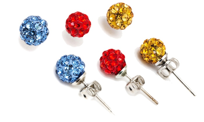 Stainless Steel Crystal Ball Stud Earrings: $6.99 for Stainless Steel 6mm Crystal Ball Stud Earrings ( $32.99 List Price). Multiple Colors Available. Free Returns.