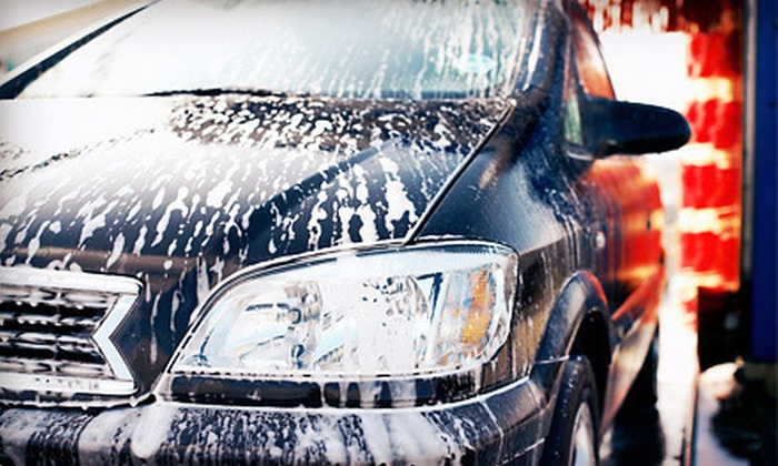 Magnolia & Katella Car Wash - Stanton: Three Basic Car Washes with Armor All and Optional Wax at Magnolia & Katella Car Wash (Up to 56% Off)