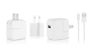 Apple Lightning Cable and 5W, 10W, or 12W Wall Chargers  at Apple Lightning Cable and 5W, 10W, or 12W Wall Chargers , plus 6.0% Cash Back from Ebates.