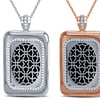 CUFF Smart Alert Plated Pendant in Rhodium, 18K Gold, or Rose Gold