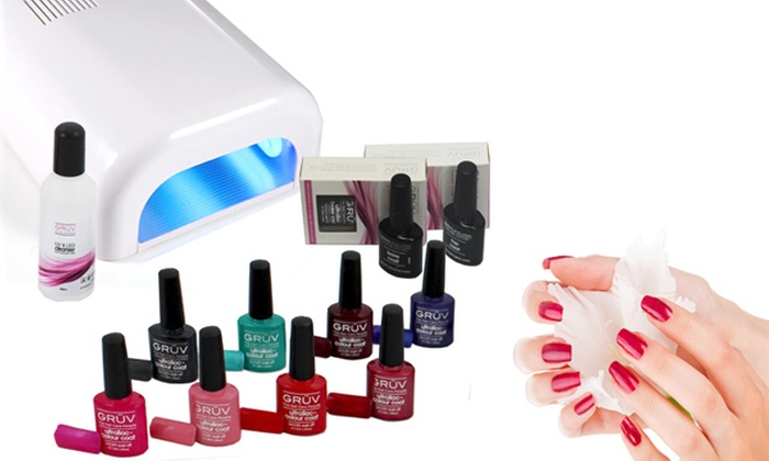 kit ongles groupon