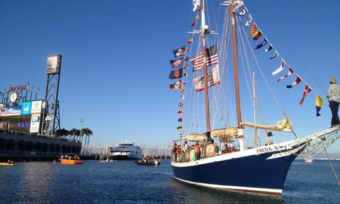 SF Bay Adventures - Freda B:   for Baseball Viewing Party on Boat on Thursday, September 25 from SF Bay Adventures ( Value)