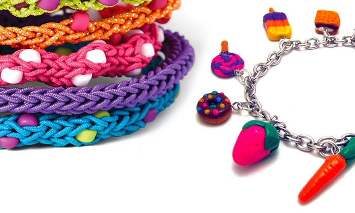 Loop loom bracelets clay charms groupon goods for Klutz make clay charms craft kit