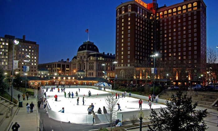 The Providence Rink at the Bank of America City Center - Downtown Providence: $12 for Ice Skating Admissionwith Skate Rental for Two at The Providence Rink ($24 Value)