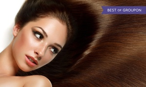 Lucky Hair Company: $72 for a Cut, Color, Clear Shine Treatment, and Eyebrow Wax at Lucky Hair Company ($137 Value)