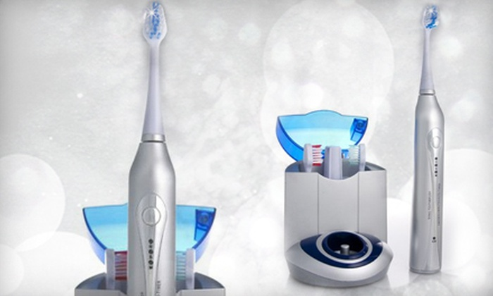Diamond Elite Ultrasonic Toothbrush: $69 for a Diamond Ultrasonic Toothbrush Kit with a Charger Base and Brush Heads from Diamond Toothbrush ($230.95 Value)