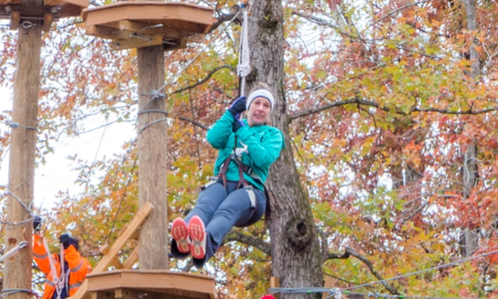 Adventureworks - Kingston Springs: Zipline/Treetop Course for One or Two at Adventureworks (Up to 56% Off)