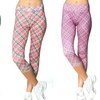 Women's High Performance Geo Print Capris (3-Pack)