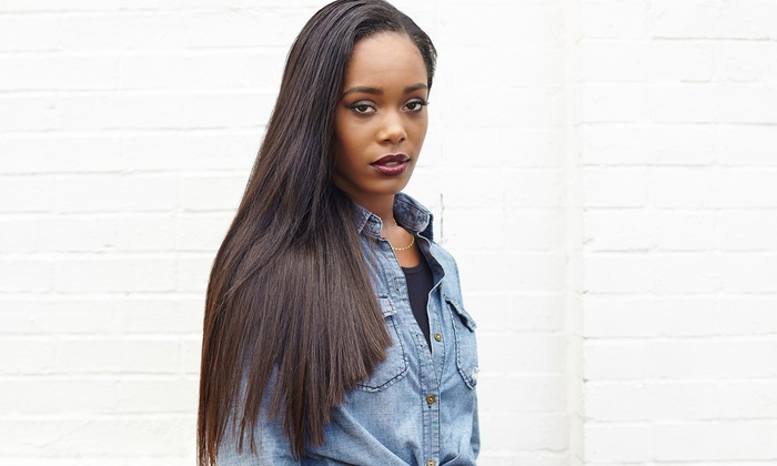 Slay3d - Slay3d: Haircut with Option for Conditioning or Relaxer, or Sew-In Hair Extensions at Slay3d (Up to 76% Off)