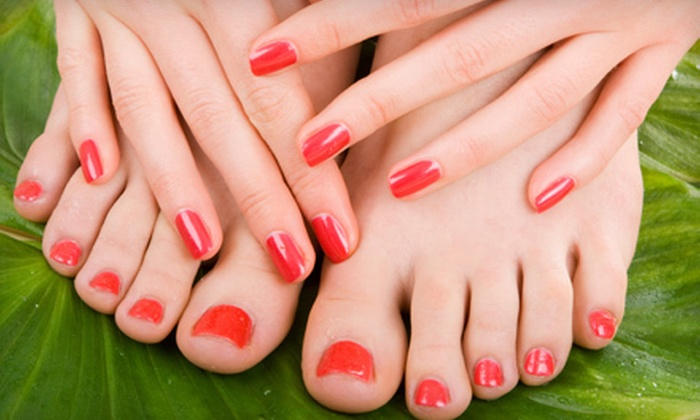 Complexions Day Spa - Irvine Business Complex: One or Two Shellac or Aromatherapy Spa Mani-Pedis at Complexions Day Spa (Up to 54% Off)