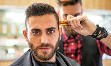Hot Towel Shave or Men's Wash, Cut and Style with Optional Beard Trim at Knightsbridge Barbers, London (Up to 62% Off)