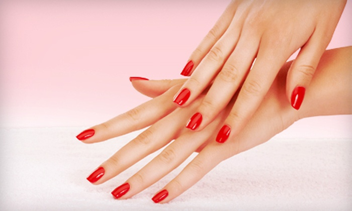 Bombshell Salon & Spa - Select Salon Studios: One Pedicure, One Mani-Pedi, or Three Manicures at Bombshell Salon & Spa (Up to 53% Off)